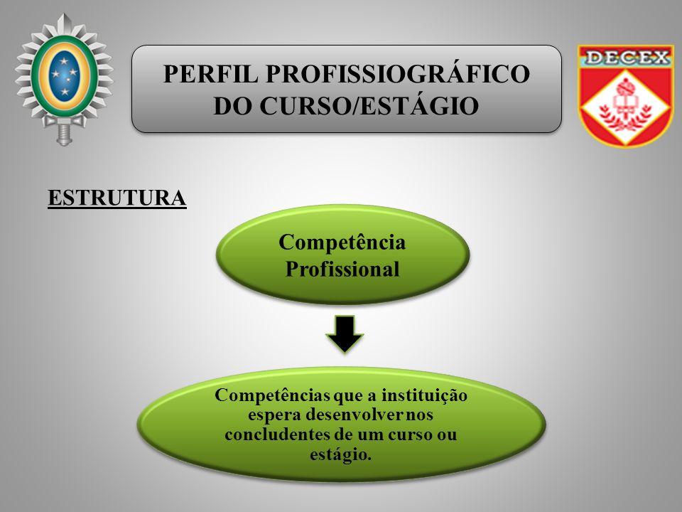 PERFIL PROFISSIOGRÁFICO DO CURSO/ESTÁGIO PERFIL PROFISSIOGRÁFICO DO CURSO/ESTÁGIO Competências que a instituição espera desenvolver nos concludentes de um curso ou estágio.