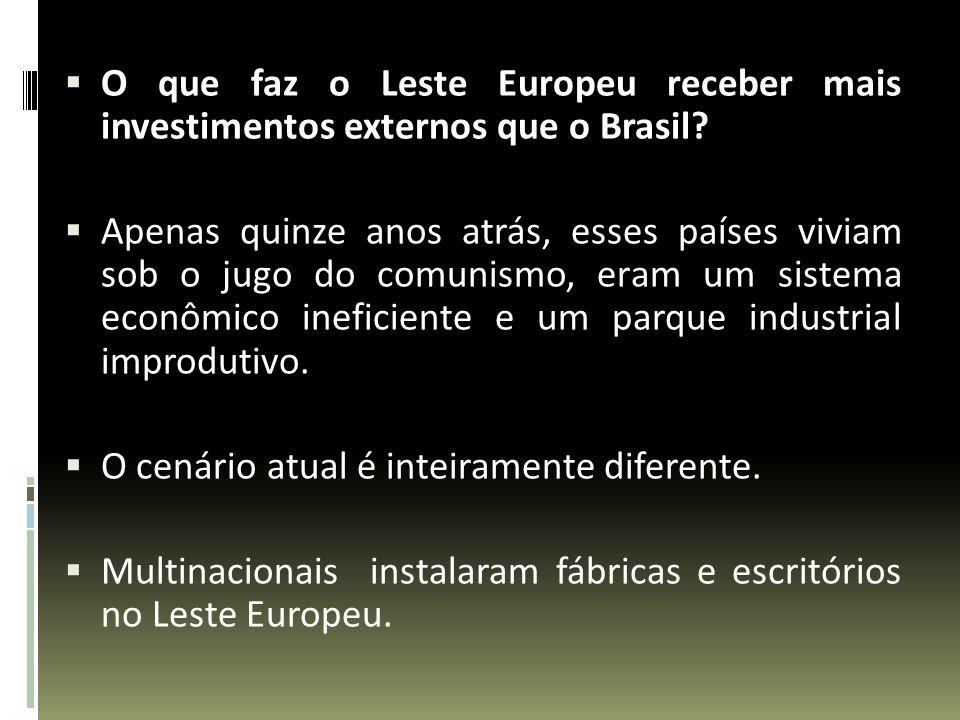 O que faz o Leste Europeu receber mais investimentos externos que o Brasil? Apenas quinze anos atrás, esses países viviam sob o jugo do comunismo, era