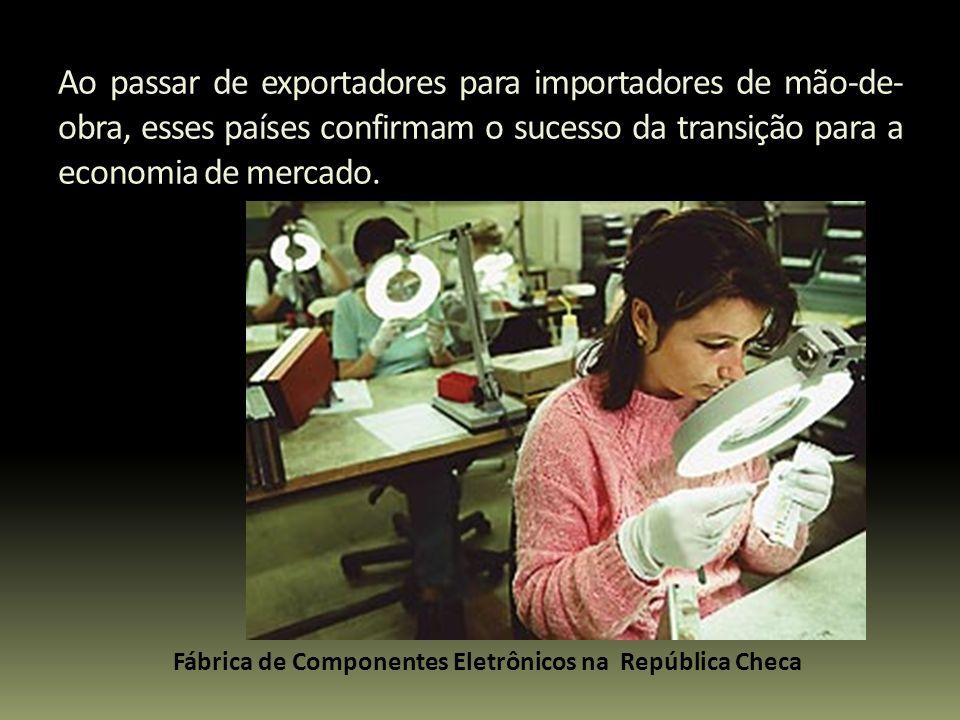 Ao passar de exportadores para importadores de mão-de- obra, esses países confirmam o sucesso da transição para a economia de mercado. Fábrica de Comp