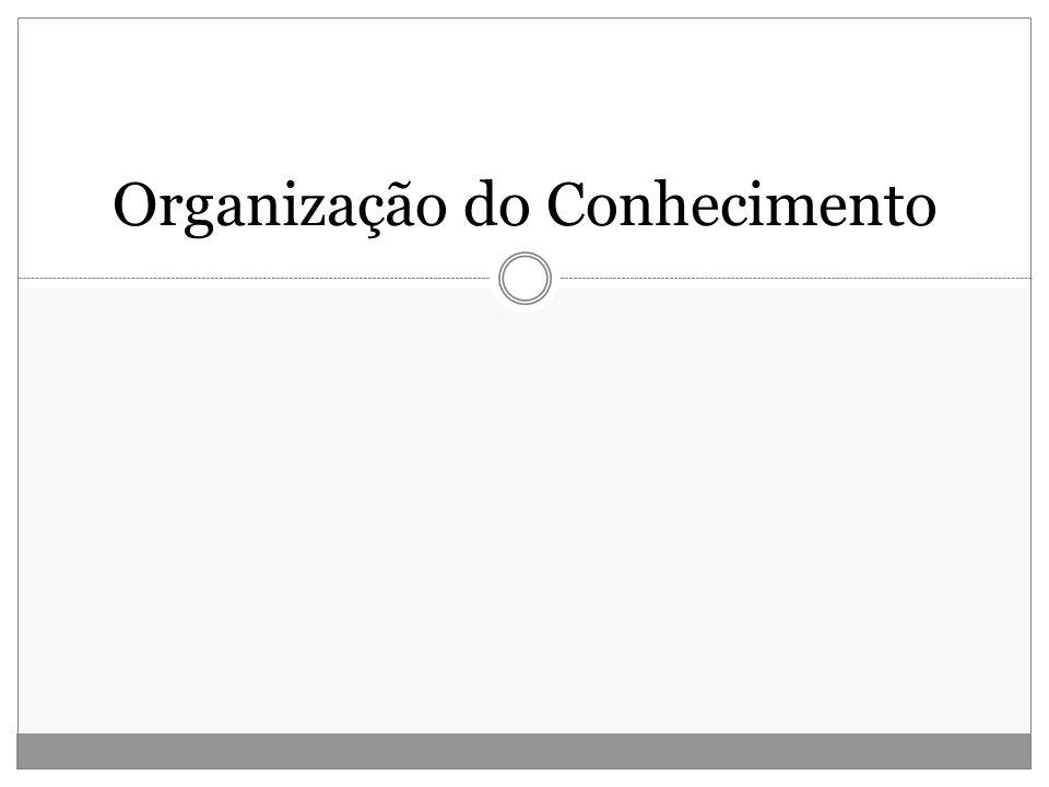 Barité, 2001 O objeto de estudo da Organização do Conhecimento é o....... conhecimento socializado