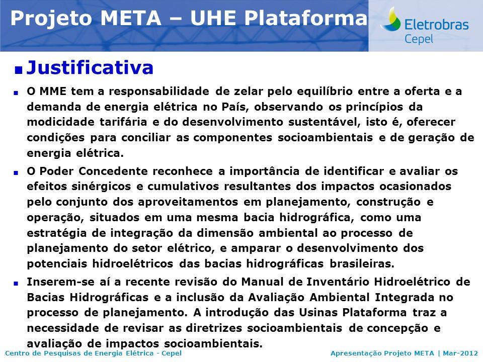 Centro de Pesquisas de Energia Elétrica - CepelApresentação Projeto META | Mar-2012 Modelo NEWAVE Justificativa O MME tem a responsabilidade de zelar