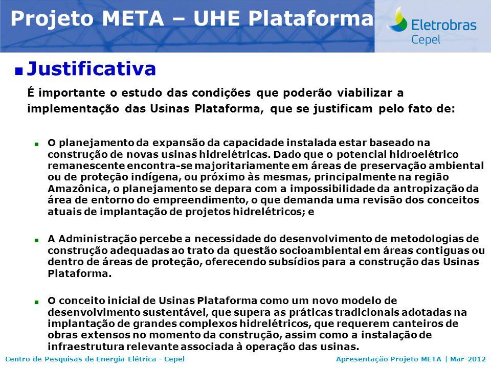 Centro de Pesquisas de Energia Elétrica - CepelApresentação Projeto META | Mar-2012 Modelo NEWAVE Justificativa É importante o estudo das condições qu