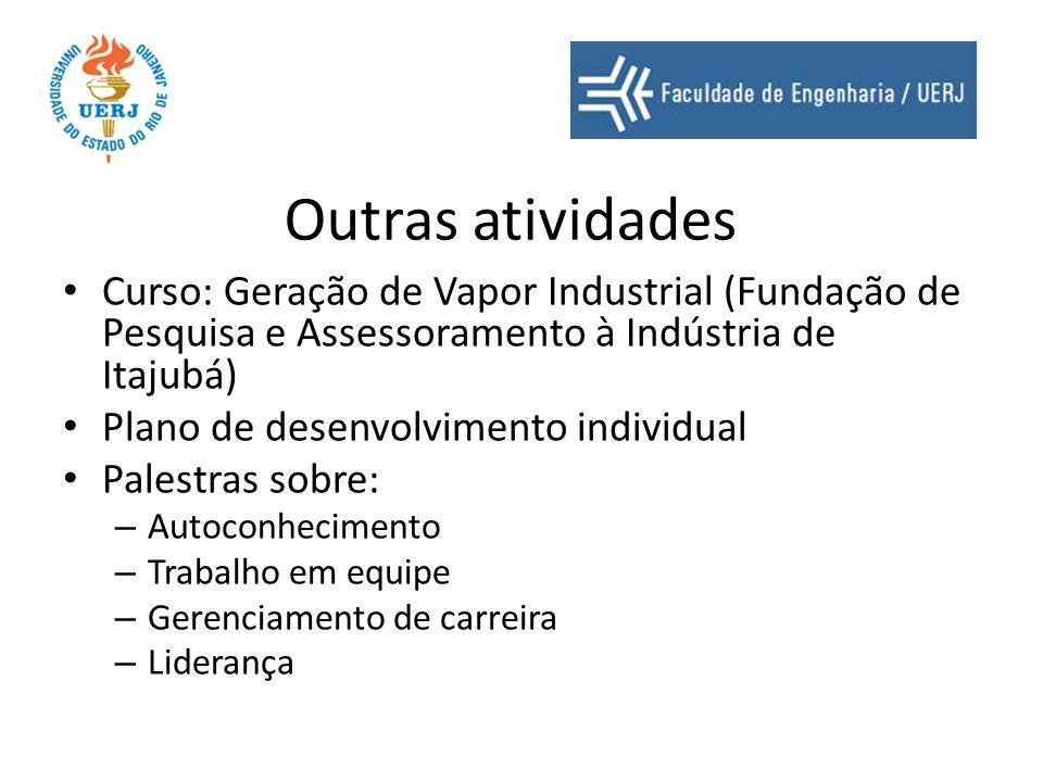 Outras atividades Curso: Geração de Vapor Industrial (Fundação de Pesquisa e Assessoramento à Indústria de Itajubá) Plano de desenvolvimento individua