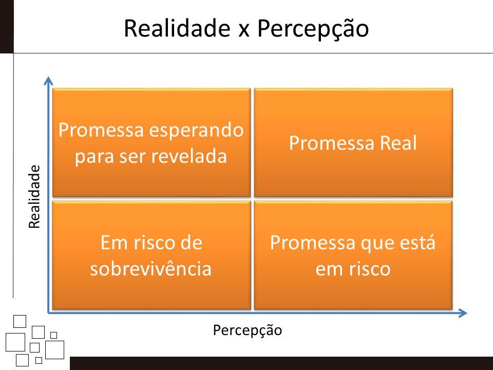 Realidade x Percepção Em risco de sobrevivência Promessa que está em risco Promessa esperando para ser revelada Promessa Real Realidade Percepção