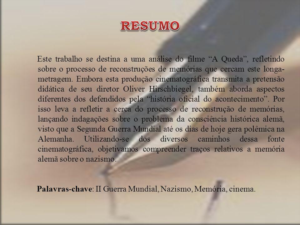 Este trabalho se destina a uma análise do filme A Queda, refletindo sobre o processo de reconstruções de memórias que cercam este longa- metragem.