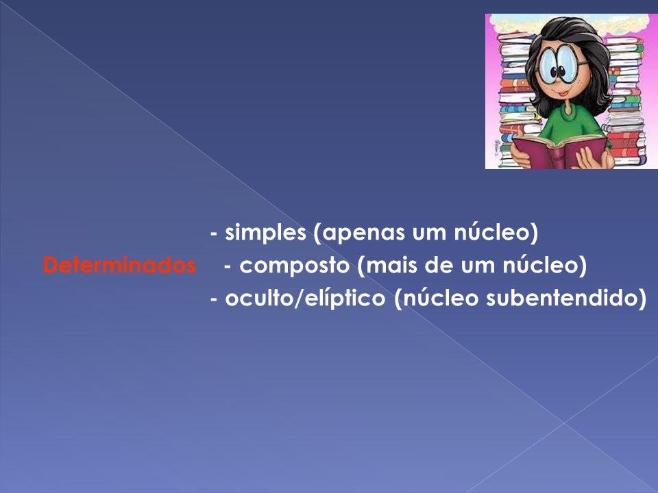 1º Caso - verbo na 3ª.P.P Indeterminado 2º Caso - verbo na 3ª.