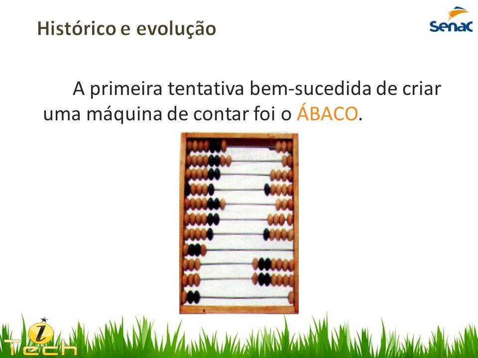 A primeira tentativa bem-sucedida de criar uma máquina de contar foi o ÁBACO.