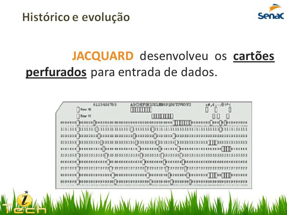 JACQUARD desenvolveu os cartões perfurados para entrada de dados.