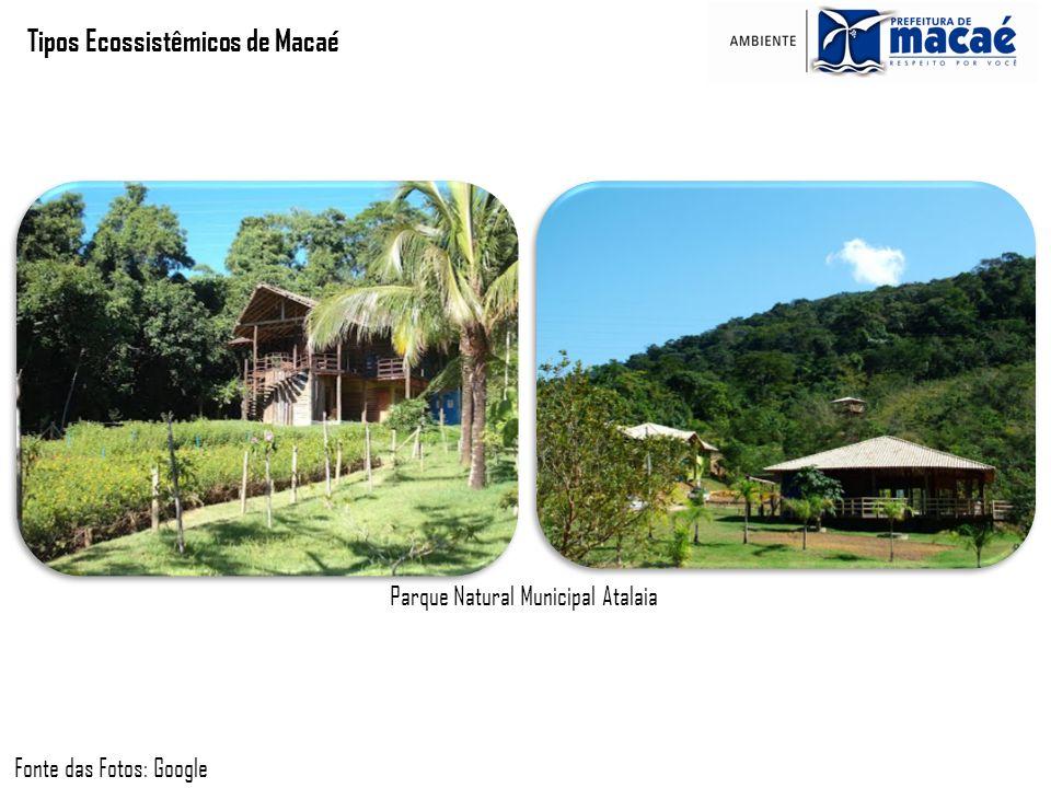Tipos Ecossistêmicos de Macaé Fonte das Fotos: Google Parque Natural Municipal Atalaia