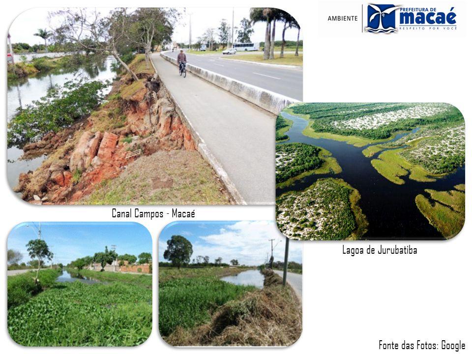 Lagoa de Jurubatiba Canal Campos - Macaé Fonte das Fotos: Google