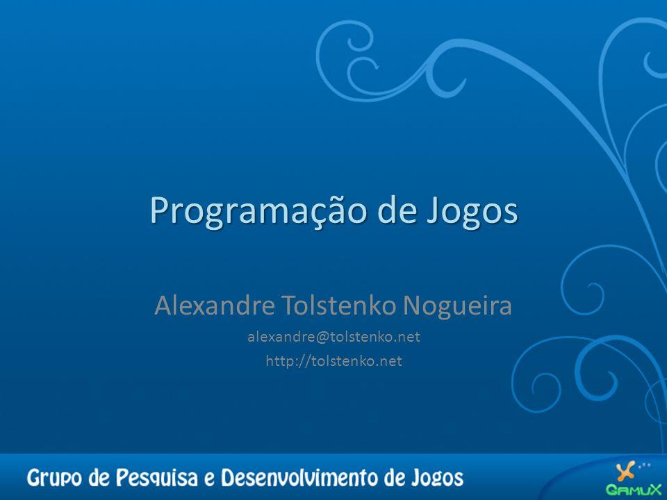 Programação de Jogos Alexandre Tolstenko Nogueira alexandre@tolstenko.net http://tolstenko.net