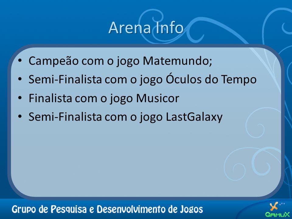Arena Info Campeão com o jogo Matemundo; Semi-Finalista com o jogo Óculos do Tempo Finalista com o jogo Musicor Semi-Finalista com o jogo LastGalaxy
