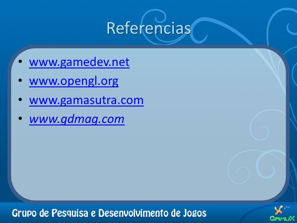 Referencias www.gamedev.net www.opengl.org www.gamasutra.com www.gdmag.com