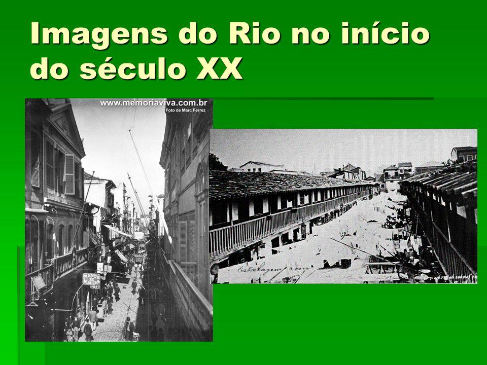 Quadro da Cidade na virada dos séculos XIX e XX Rio de Janeiro na 2ª metade do século XIX: surtos de industrialização, esgotamento da escravidão, declínio da cafeicultura e afluxo de imigrantes estrangeiros.