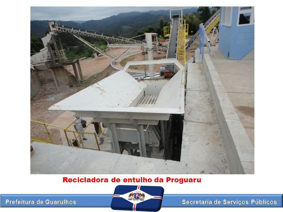 Recicladora de entulho da Proguaru