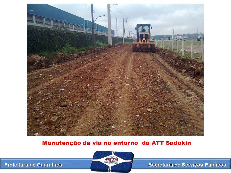 Manutenção de via no entorno da ATT Sadokin