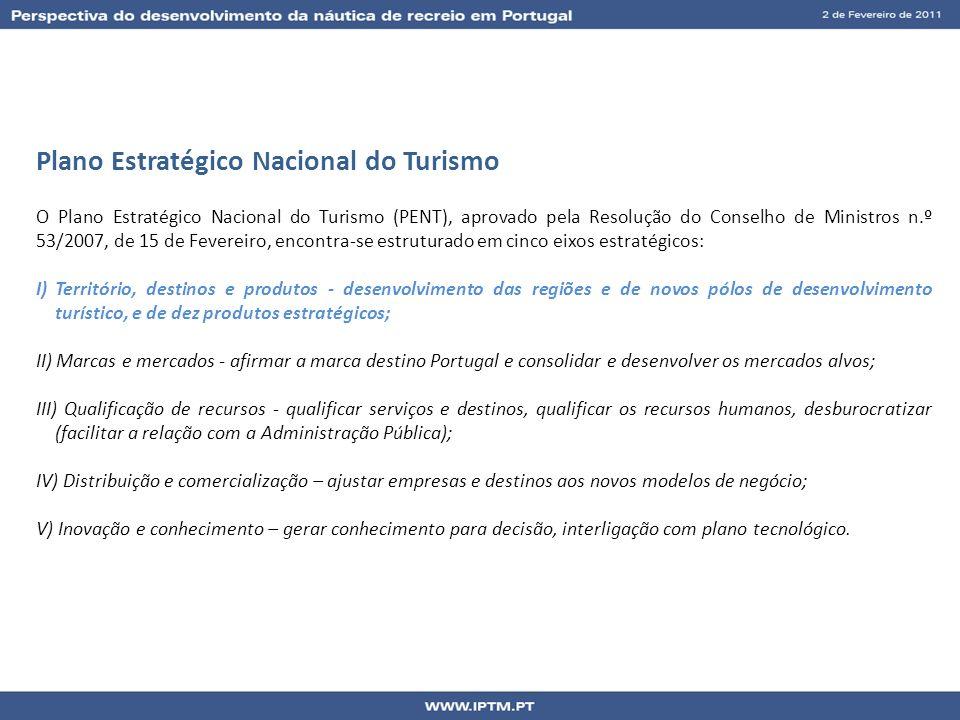 Plano Estratégico Nacional do Turismo O Plano Estratégico Nacional do Turismo (PENT), aprovado pela Resolução do Conselho de Ministros n.º 53/2007, de