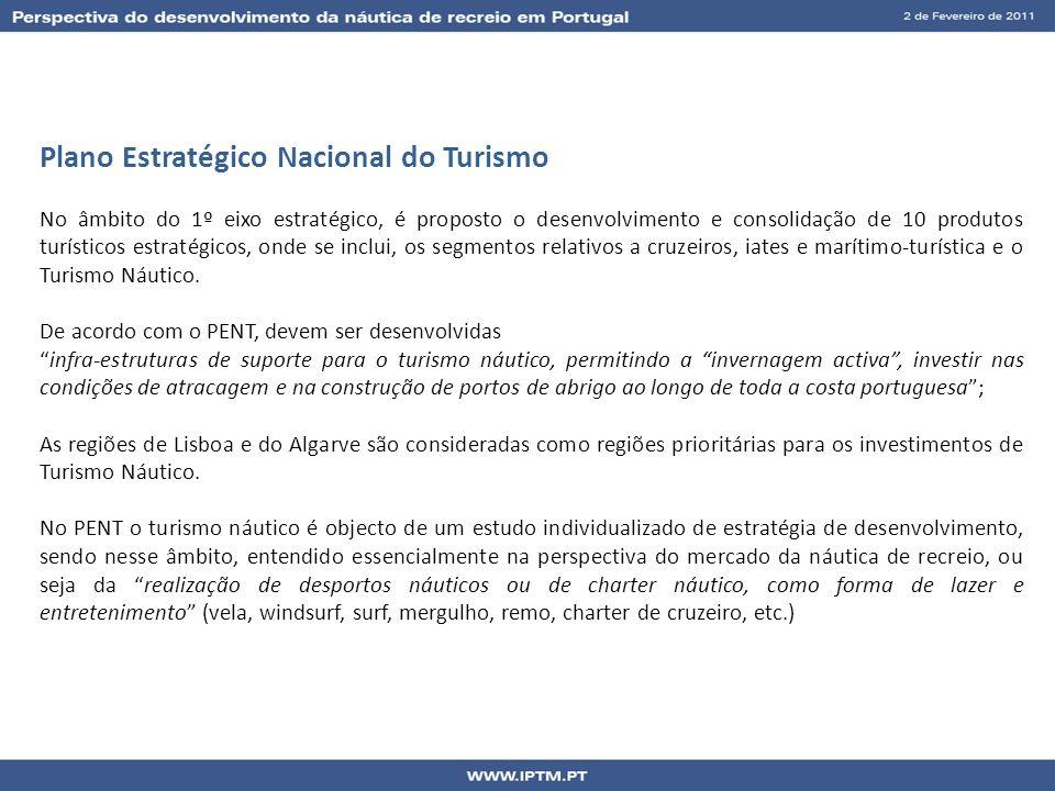 Plano Estratégico Nacional do Turismo No âmbito do 1º eixo estratégico, é proposto o desenvolvimento e consolidação de 10 produtos turísticos estratég