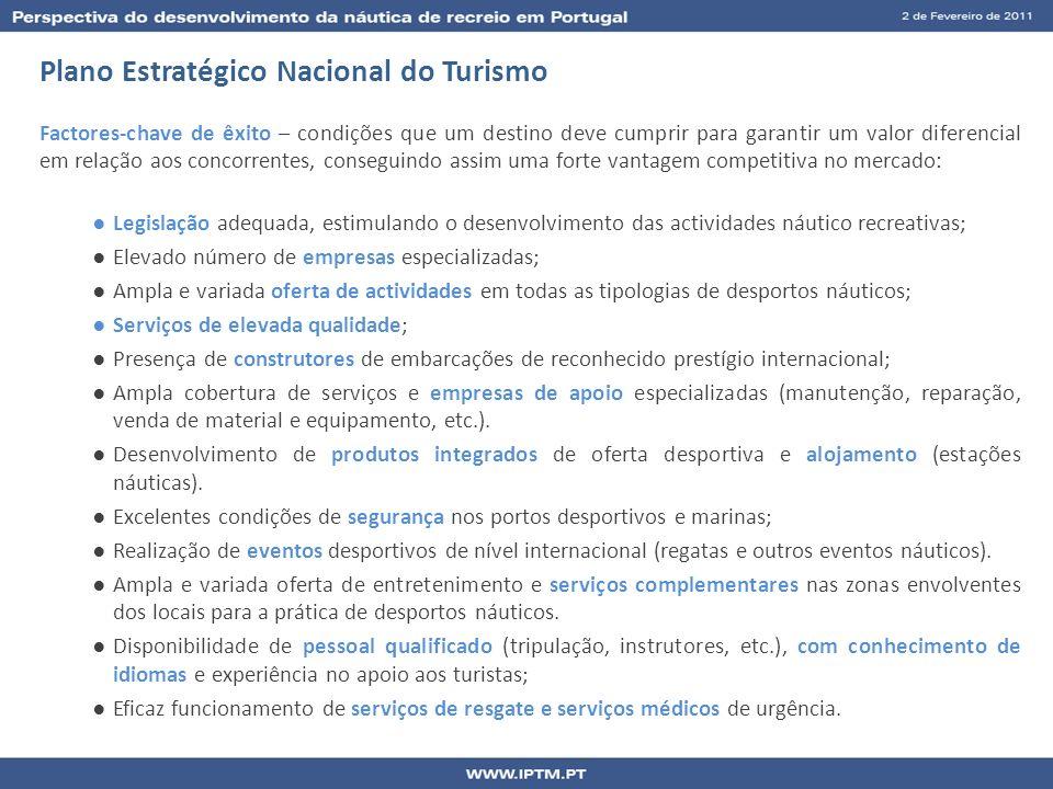 Plano Estratégico Nacional do Turismo Factores-chave de êxito – condições que um destino deve cumprir para garantir um valor diferencial em relação ao