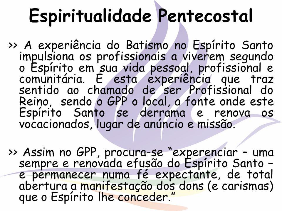 Espiritualidade Pentecostal >> A experiência do Batismo no Espírito Santo impulsiona os profissionais a viverem segundo o Espírito em sua vida pessoal