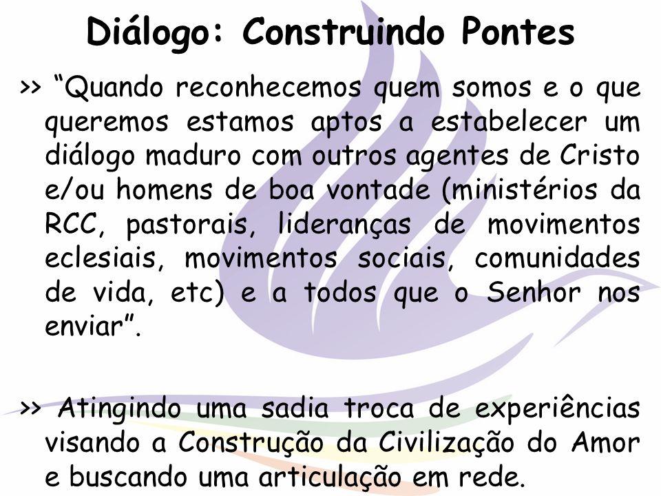 Diálogo: Construindo Pontes >> Quando reconhecemos quem somos e o que queremos estamos aptos a estabelecer um diálogo maduro com outros agentes de Cri