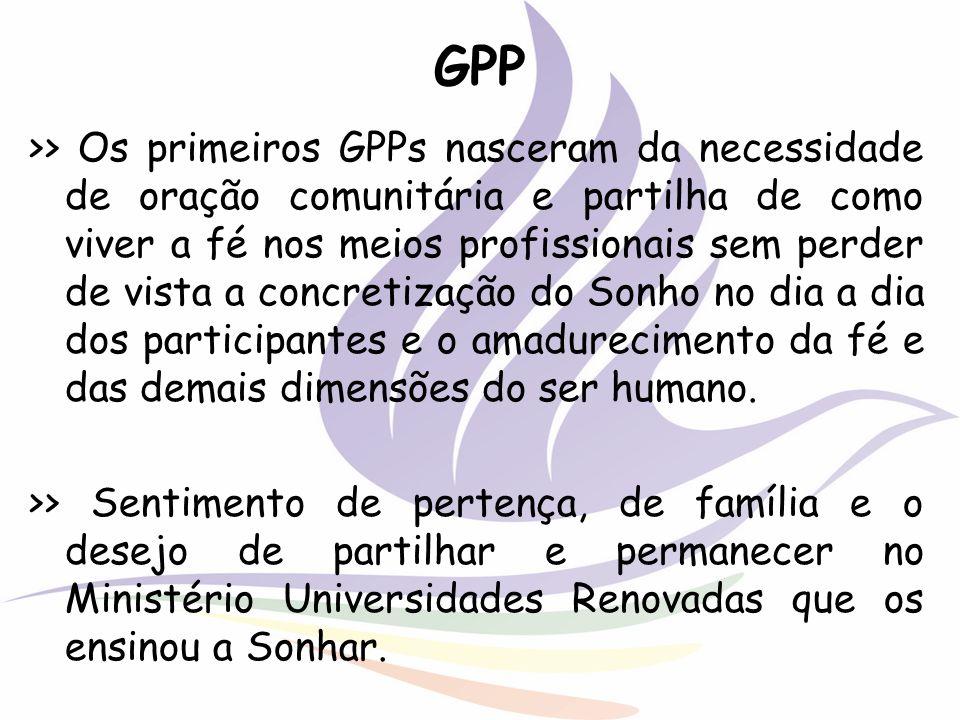 GPP >> Os primeiros GPPs nasceram da necessidade de oração comunitária e partilha de como viver a fé nos meios profissionais sem perder de vista a con