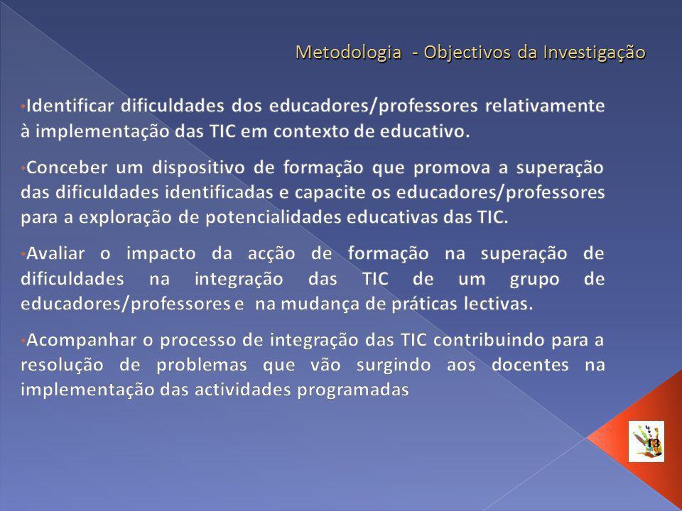 13 Metodologia - Objectivos da Investigação