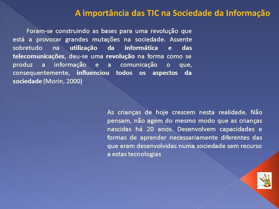 A importância das TIC na Sociedade da Informação Foram-se construindo as bases para uma revolução que está a provocar grandes mutações na sociedade. A