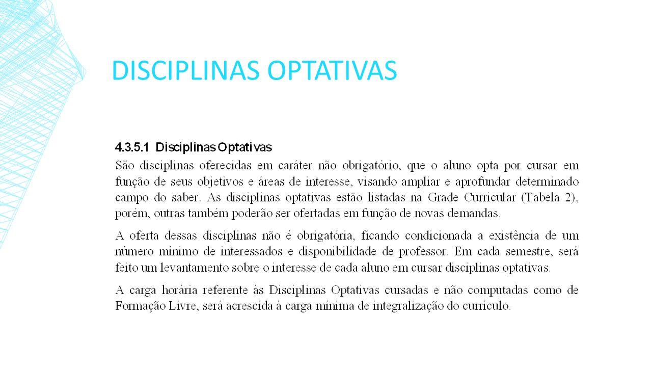 DISCIPLINAS OPTATIVAS