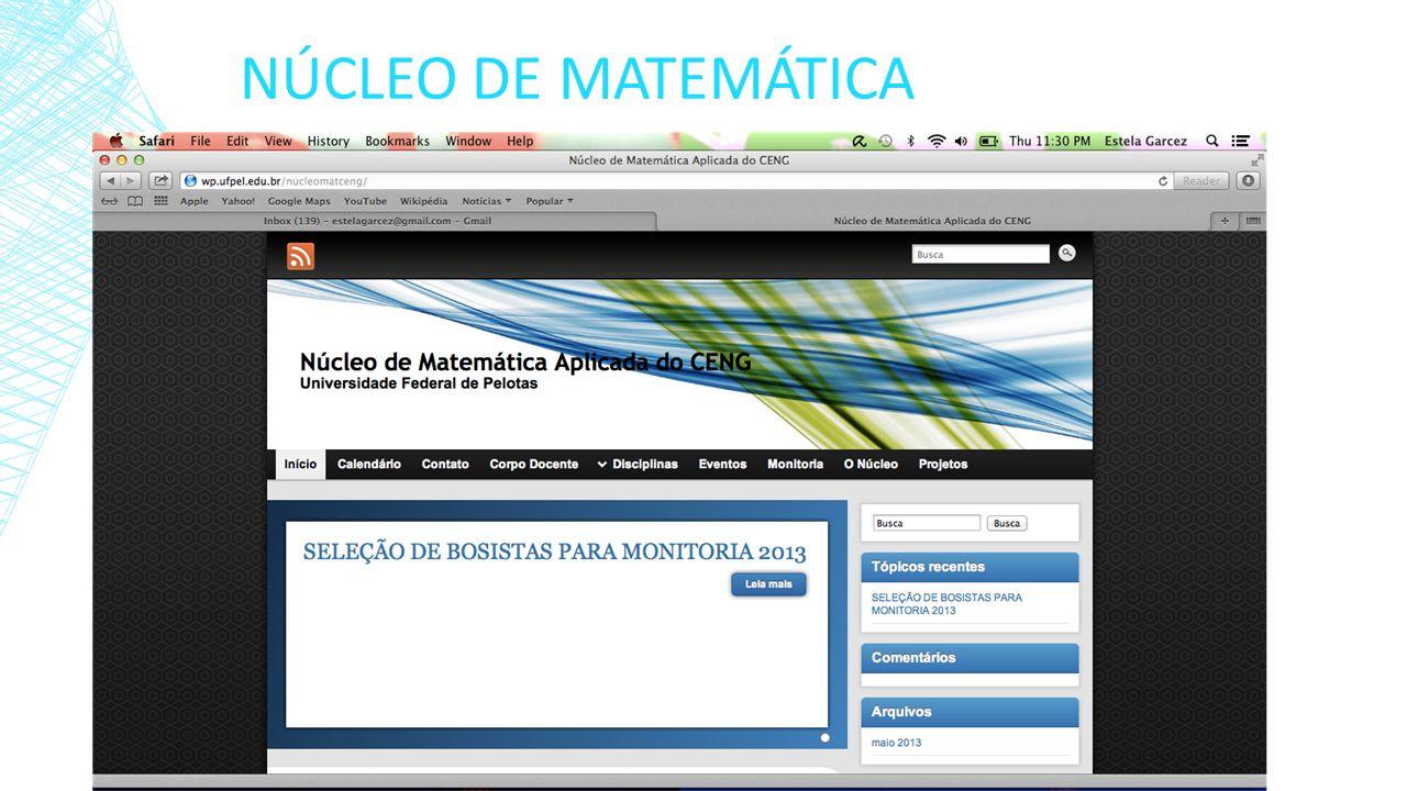 NÚCLEO DE MATEMÁTICA