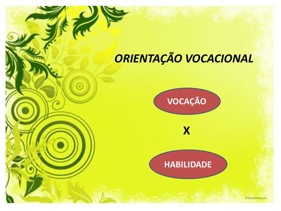 ORIENTAÇÃO VOCACIONAL X HABILIDADE VOCAÇÃO