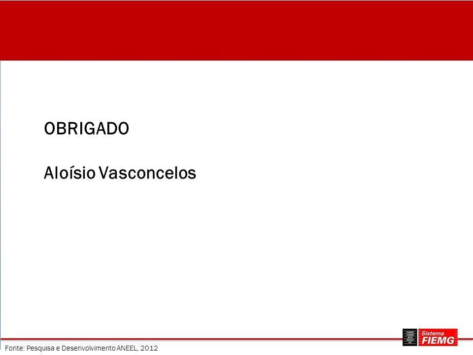 Fonte: Pesquisa e Desenvolvimento ANEEL, 2012 OBRIGADO Aloísio Vasconcelos