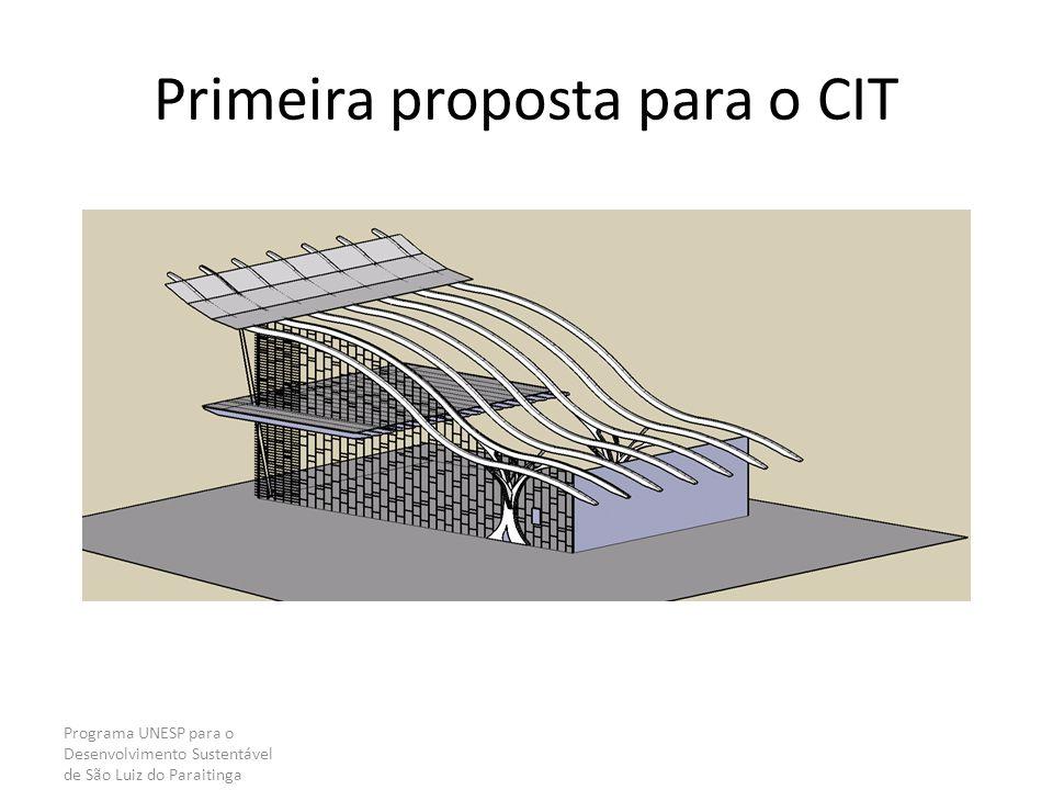 Primeira proposta para o CIT Programa UNESP para o Desenvolvimento Sustentável de São Luiz do Paraitinga