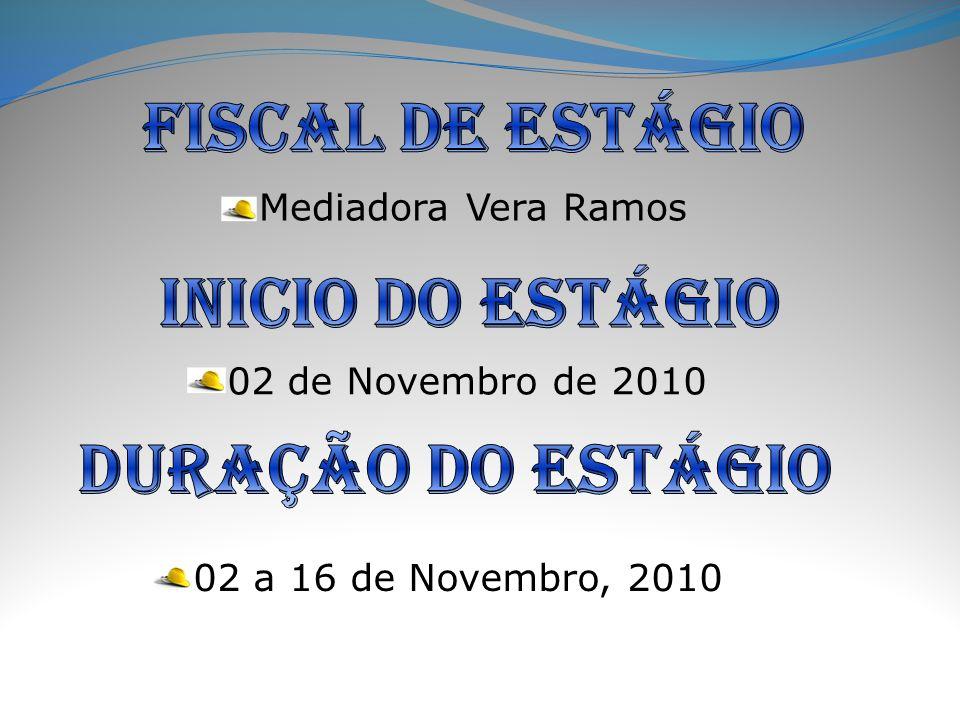 Mediadora Vera Ramos 02 de Novembro de 2010 02 a 16 de Novembro, 2010