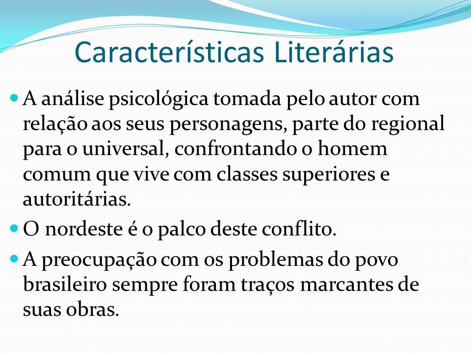 A análise psicológica tomada pelo autor com relação aos seus personagens, parte do regional para o universal, confrontando o homem comum que vive com classes superiores e autoritárias.