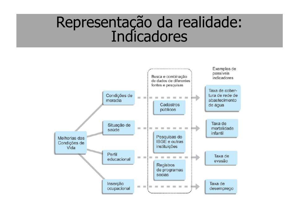 Representação da realidade: Indicadores
