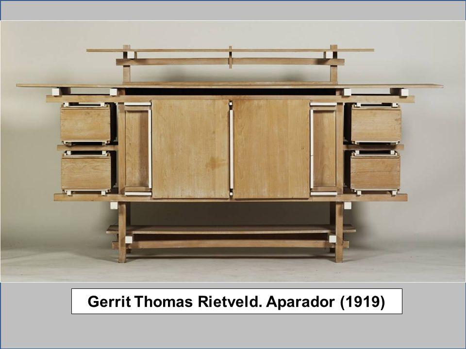 Gerrit Thomas Rietveld. Aparador (1919)