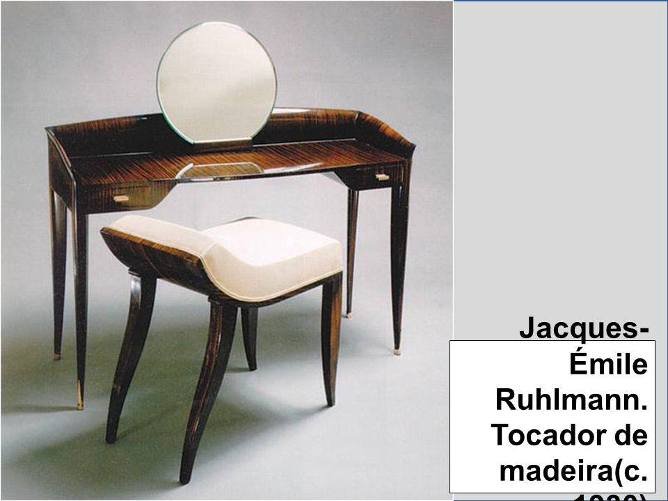 Jacques- Émile Ruhlmann. Tocador de madeira(c. 1930)