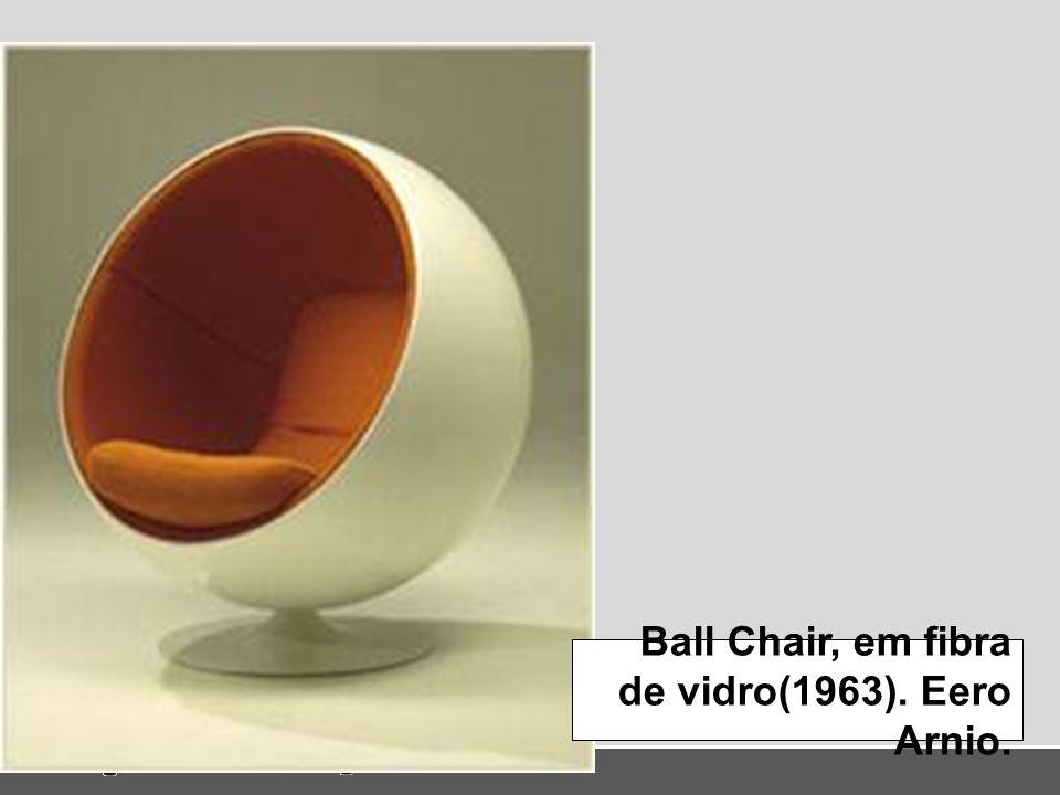 Ball Chair, em fibra de vidro(1963). Eero Arnio.
