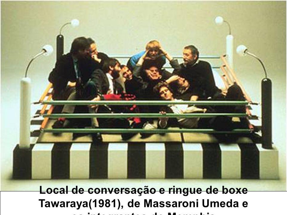Local de conversação e ringue de boxe Tawaraya(1981), de Massaroni Umeda e os integrantes do Memphis