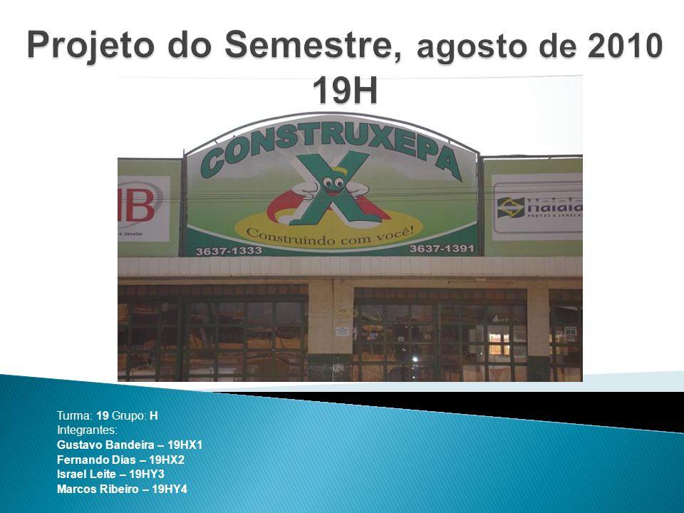 Turma: 19 Grupo: H Integrantes: Gustavo Bandeira – 19HX1 Fernando Dias – 19HX2 Israel Leite – 19HY3 Marcos Ribeiro – 19HY4