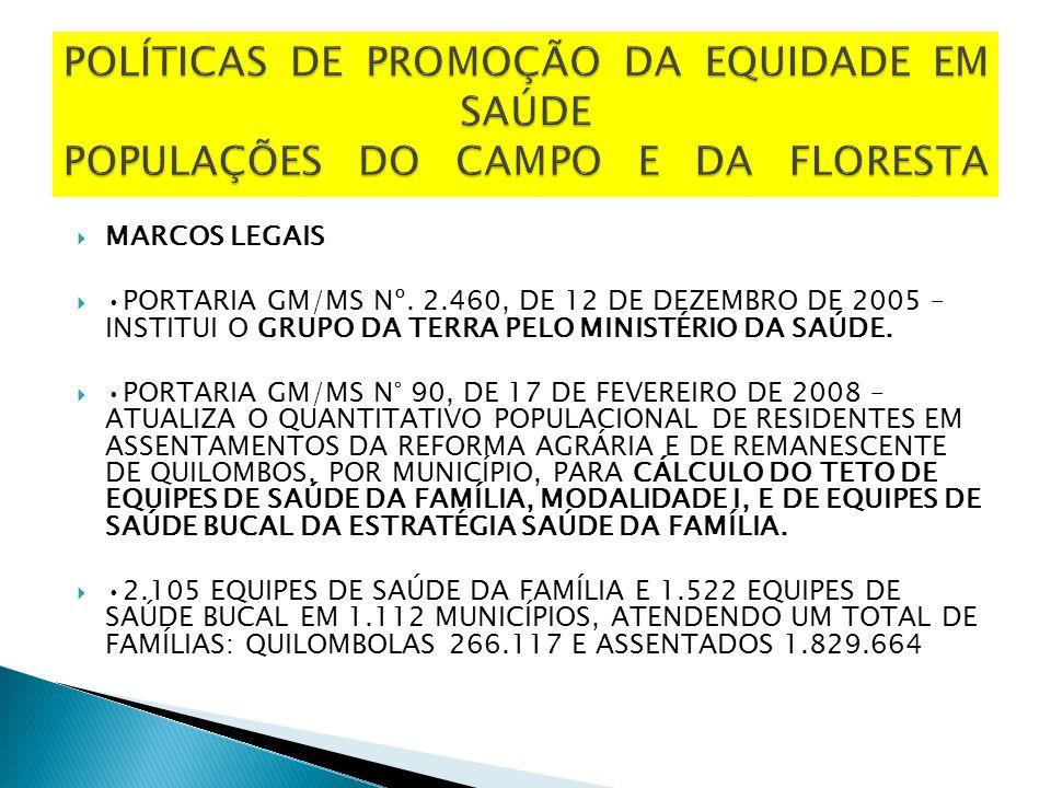 MARCOS LEGAIS PORTARIA GM/MS Nº.