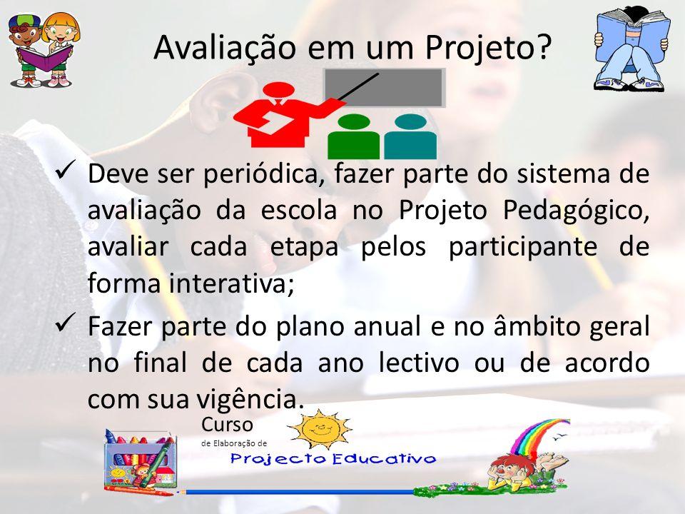 Curso de Elaboração de Avaliação em um Projeto.