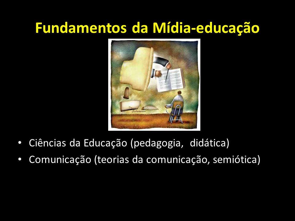 Fundamentos da Mídia-educação Ciências da Educação (pedagogia, didática) Comunicação (teorias da comunicação, semiótica)