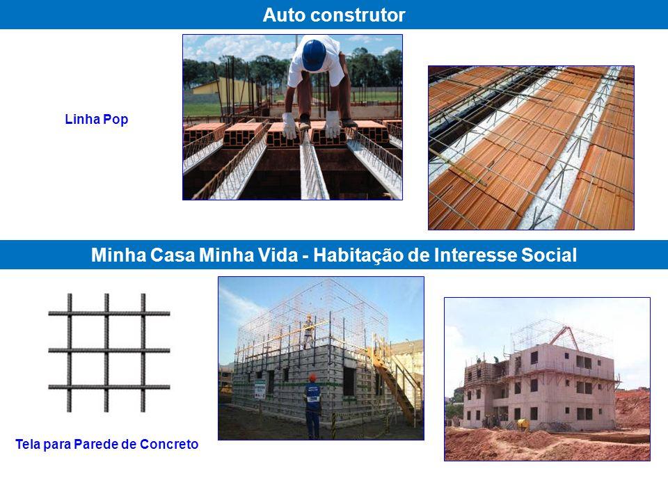 Linha Pop Auto construtor Minha Casa Minha Vida - Habitação de Interesse Social Tela para Parede de Concreto