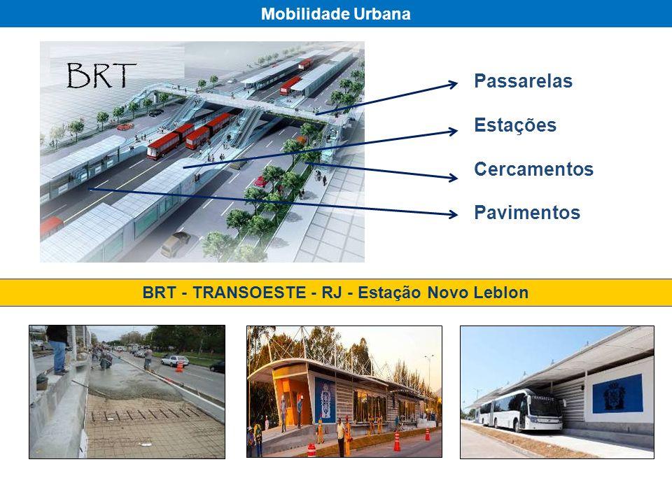 Passarelas Estações Cercamentos Pavimentos Mobilidade Urbana BRT - TRANSOESTE - RJ - Estação Novo Leblon
