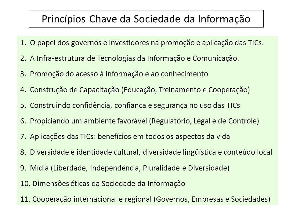 1.O papel dos governos e investidores na promoção e aplicação das TICs.