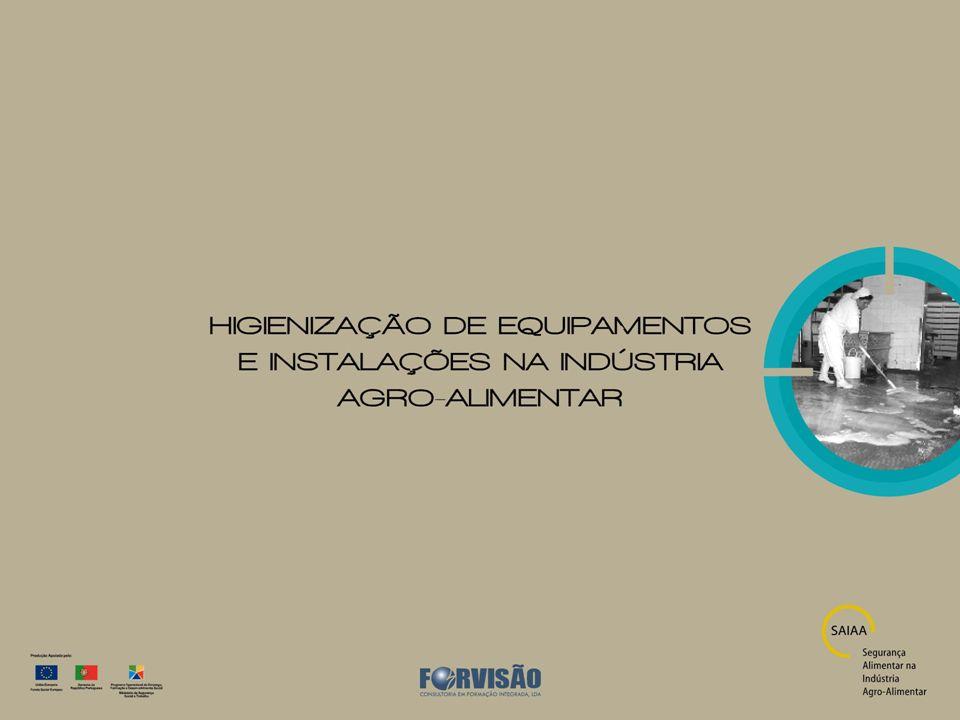 Características dos principais compostos biocidas para a higienização AplicaçõesLimitaçõesObservações Compostos Anfotéricos Condições neutras/alcalinas; Aplicável a todo o tipo de materiais; Adequado para superfícies em contacto com os alimentos; Sistemas de limpeza in situ (CIP), imersão, aspersão, nebulização e manual.