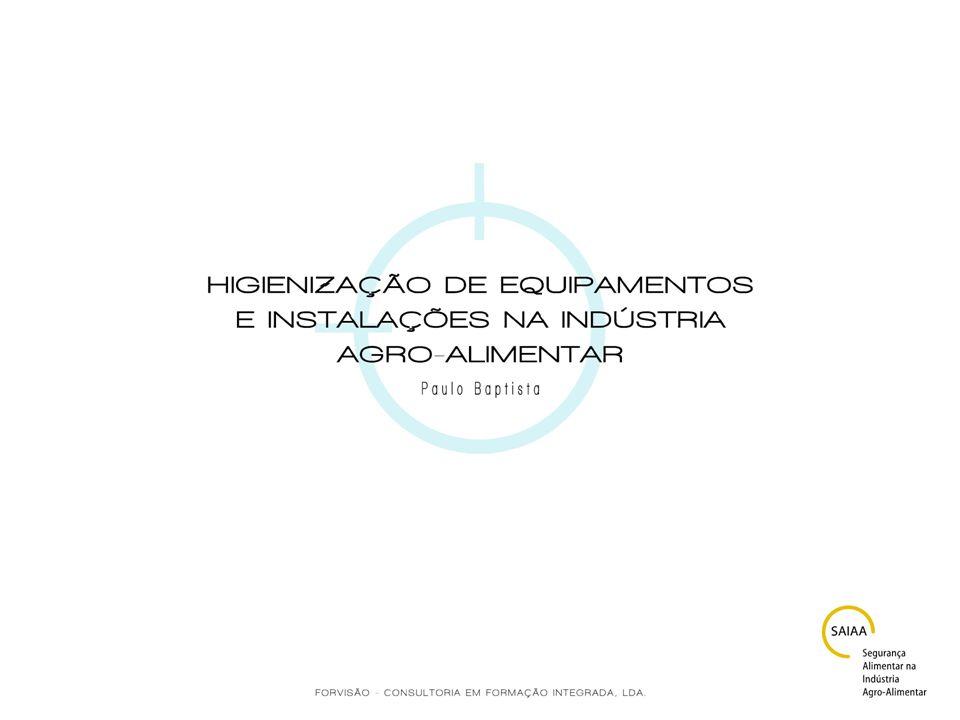 Características dos principais compostos biocidas para a higienização AplicaçõesLimitaçõesObservações Biguanidininas Poliméricas Activo em meios ácidos, neutros e alcalinos; Aplicável a todo o tipo de materiais; Adequado para superfícies em contacto com alimentos; Equipamento de tratamento térmico/ refrigeração para a indústria conserveira, engarrafamento, pasteurização e tratamento de água em geral; Sistemas de limpeza in situ (CIP), por imersão, aspersão, nebulização e manual.