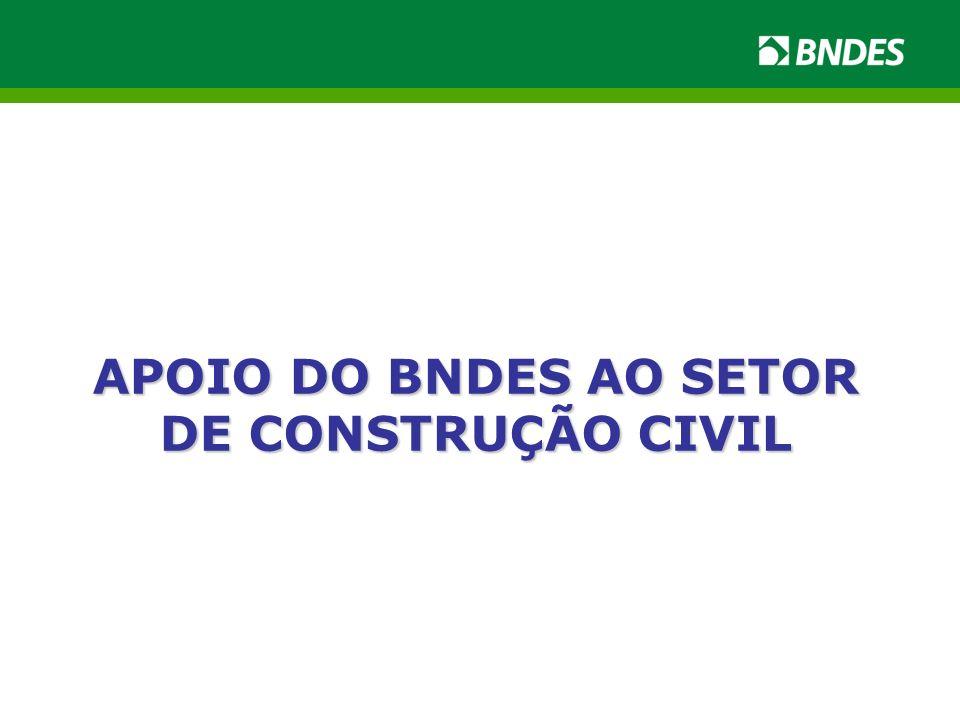 APOIO DO BNDES AO SETOR DE CONSTRUÇÃO CIVIL